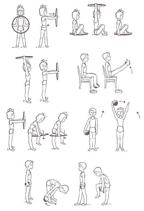 комплекс упражнений веселые картинки это