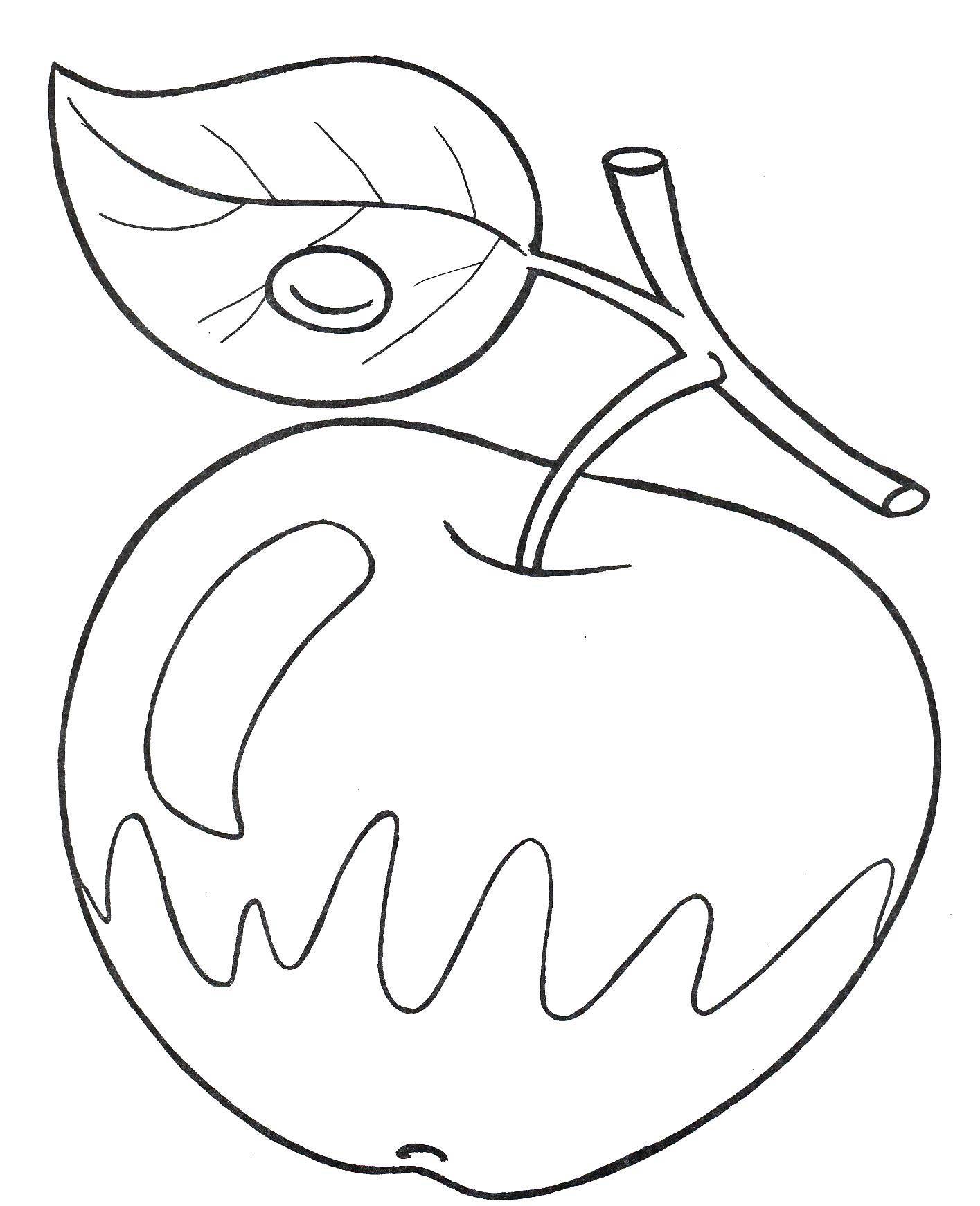Раскраски какой, Раскраска Какой твой любимый фрукт Фрукты.