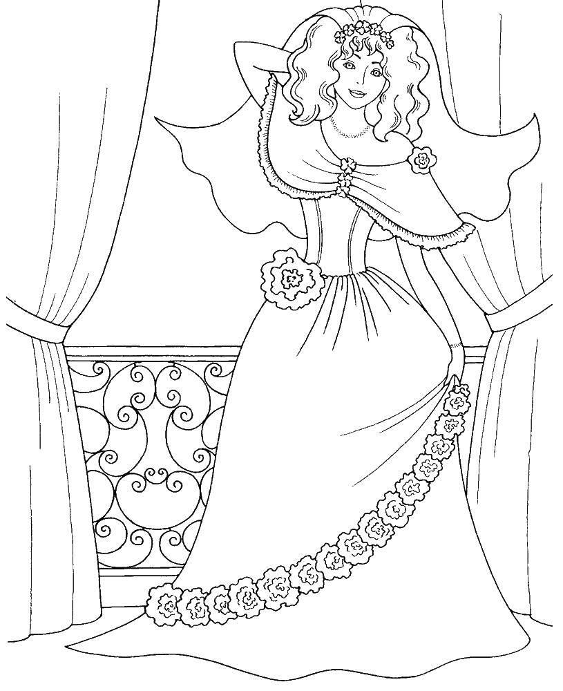 Раскраски русалки, Раскраска Барби и русалки принцесса.