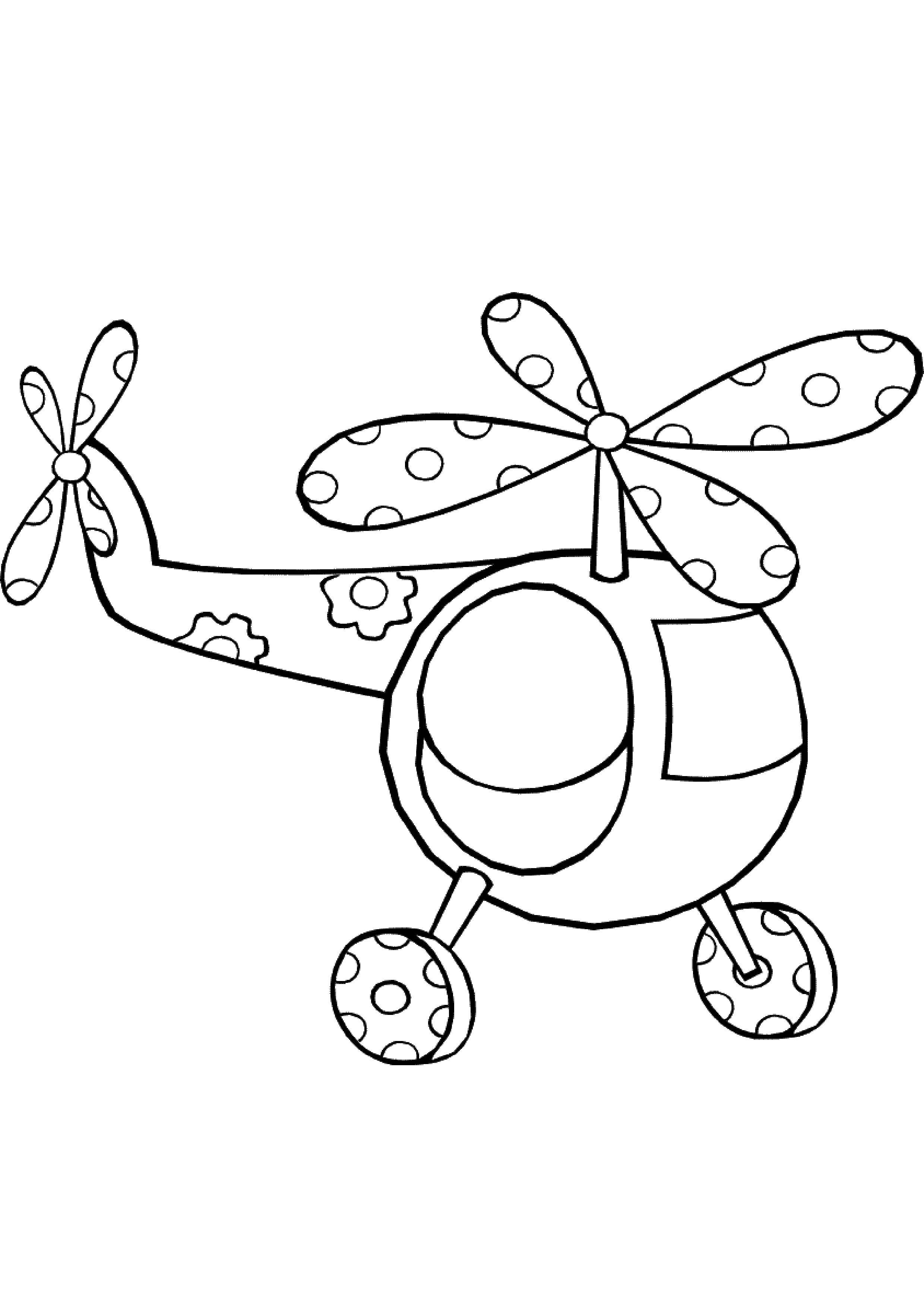 Картинка вертолета по точкам