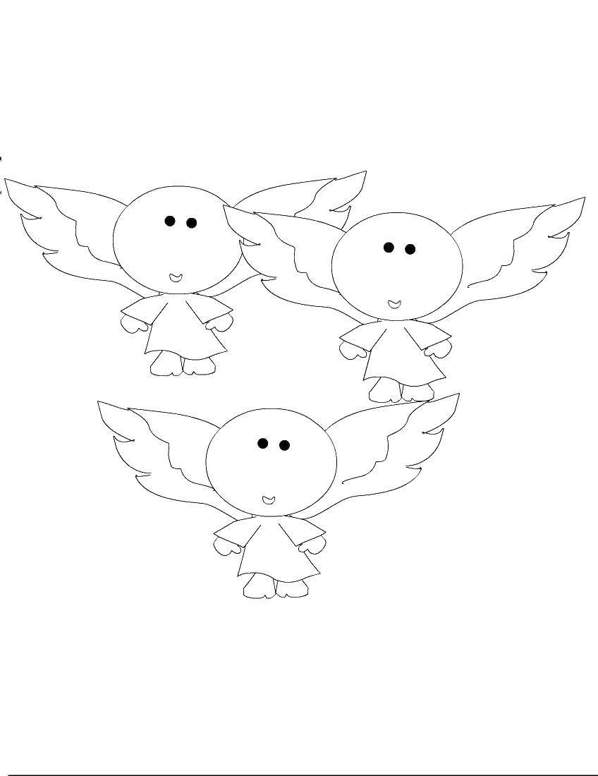 Раскраски ангел, Раскраска Ангелы и демоны смотрят на ...