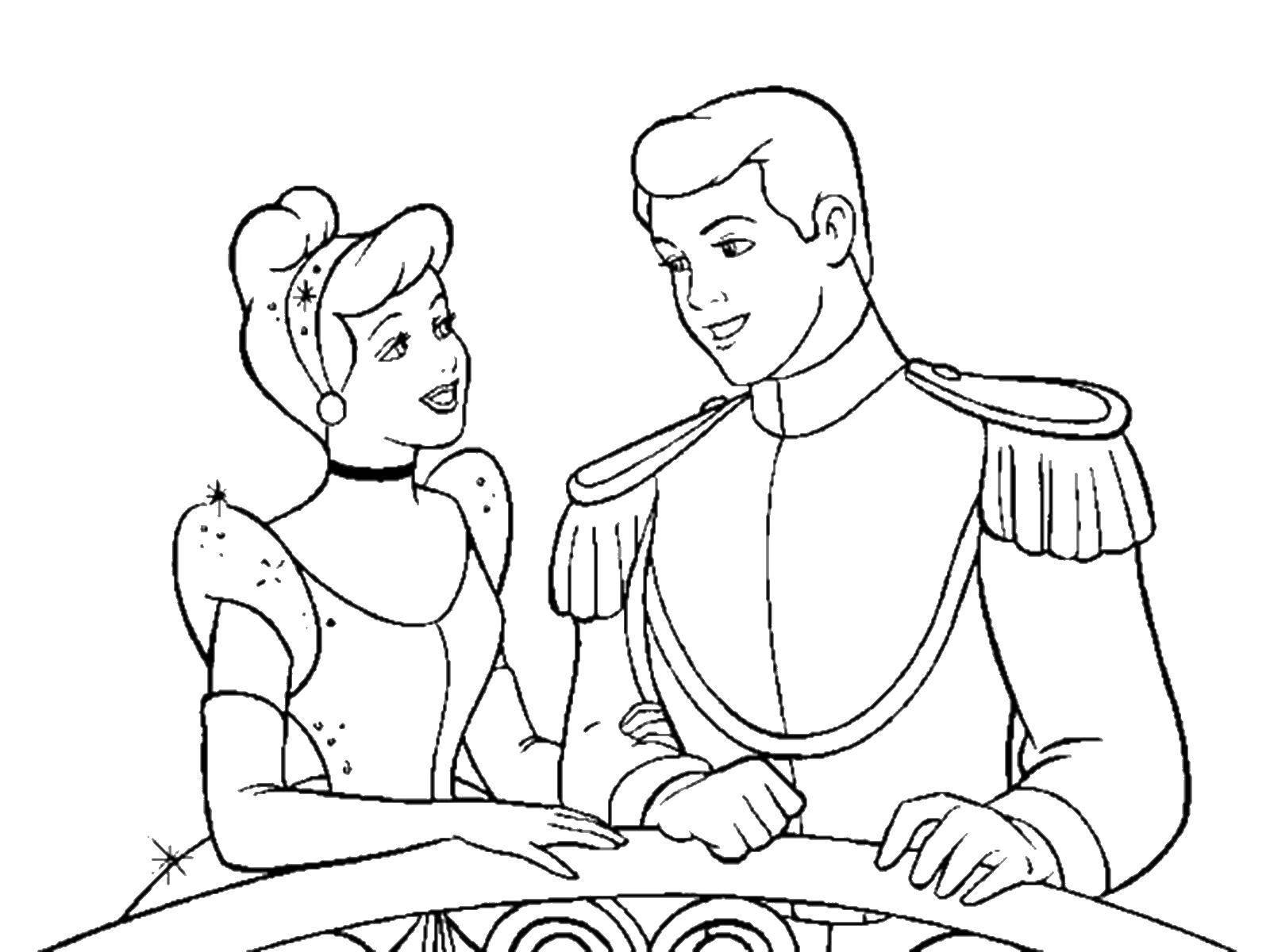 Coloring sheet Cinderella Download Christmas, deer, new year,.  Print