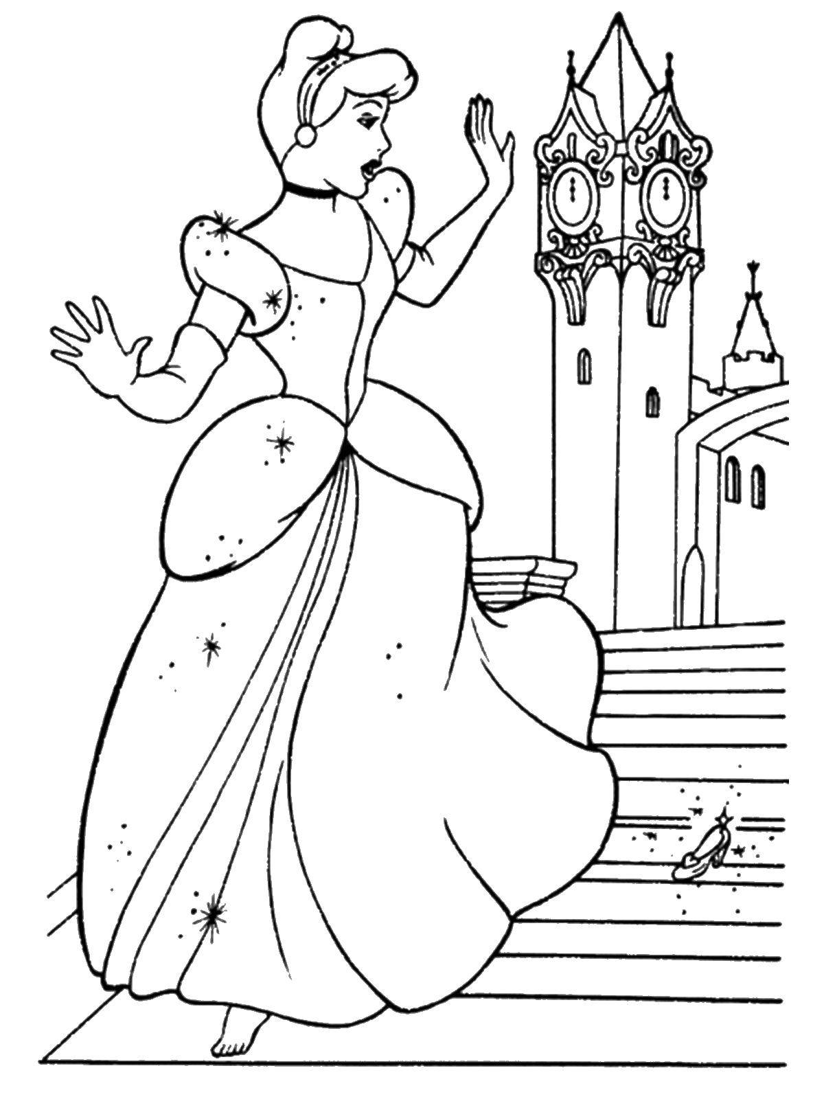 Coloring sheet Cinderella Download .  Print