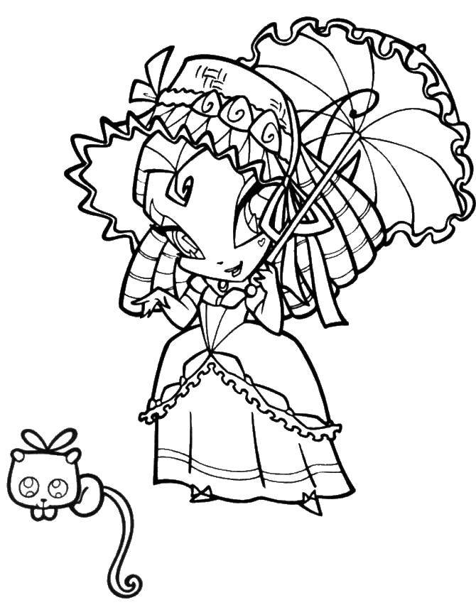 Online Coloring Pages Coloring Page Pixie Tune From Winx Winx Download Print Coloring Page