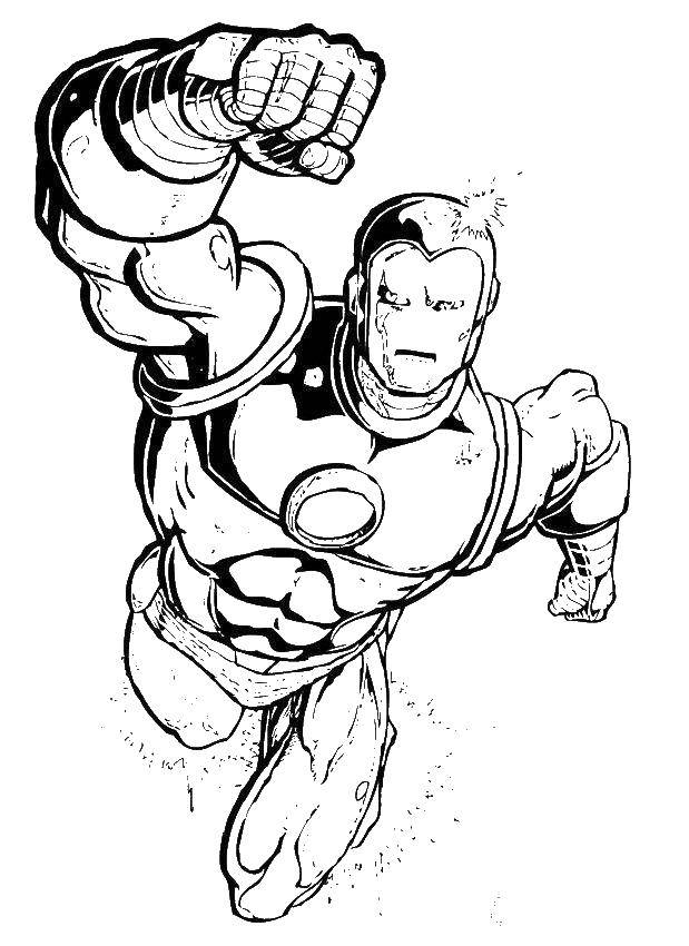 Coloring sheet iron man Download The alphabet, letters, words,.  Print