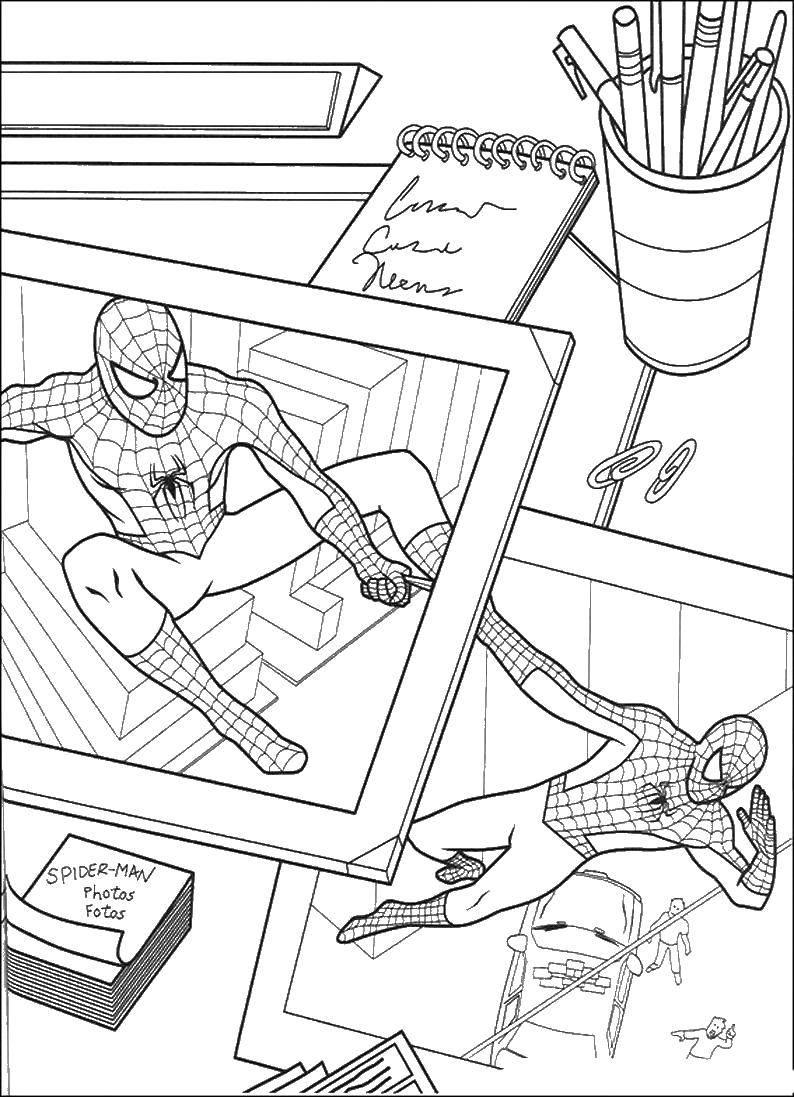 Раскраски спайдер, Раскраска Маска спайдер мена человек паук.