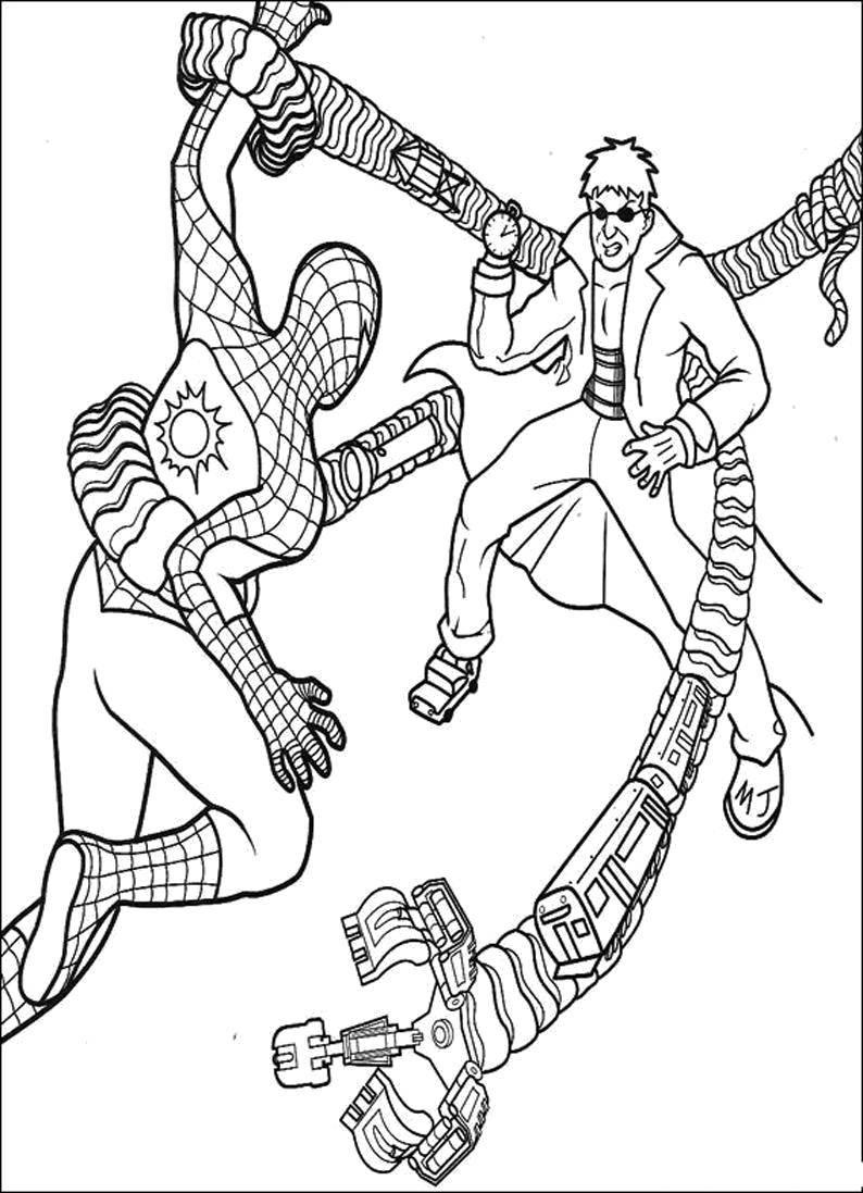 Раскраски паук, Раскраска Веном человек паук.