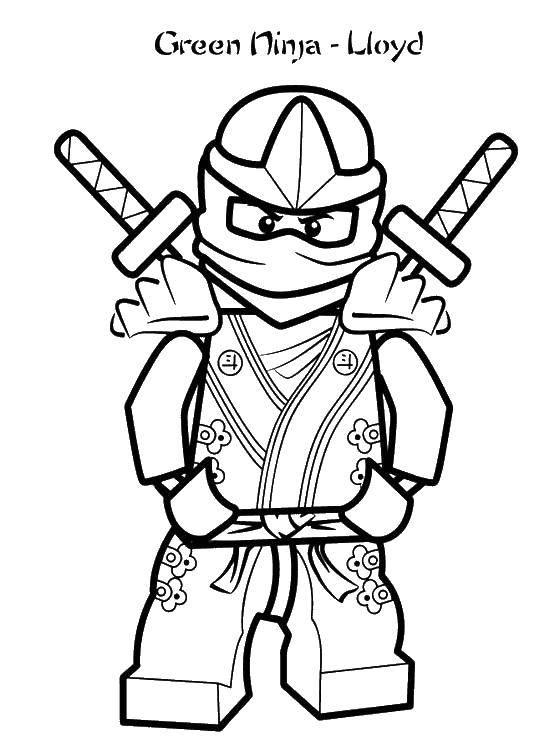 Coloring Green ninja. Category LEGO. Tags:  green ninja.