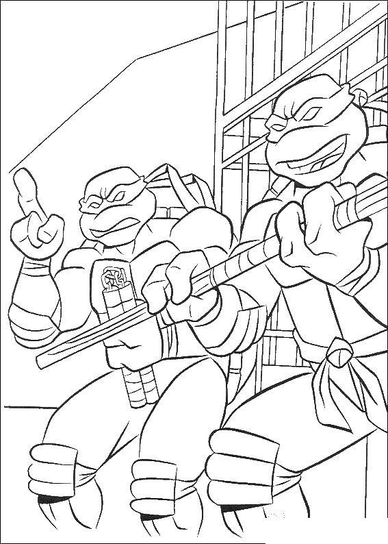 Coloring sheet teenage mutant ninja turtles Download star.  Print ,moon,