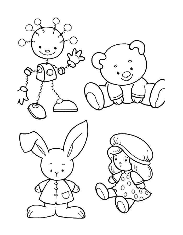 Картинки с изображением игрушек для детей распечатать