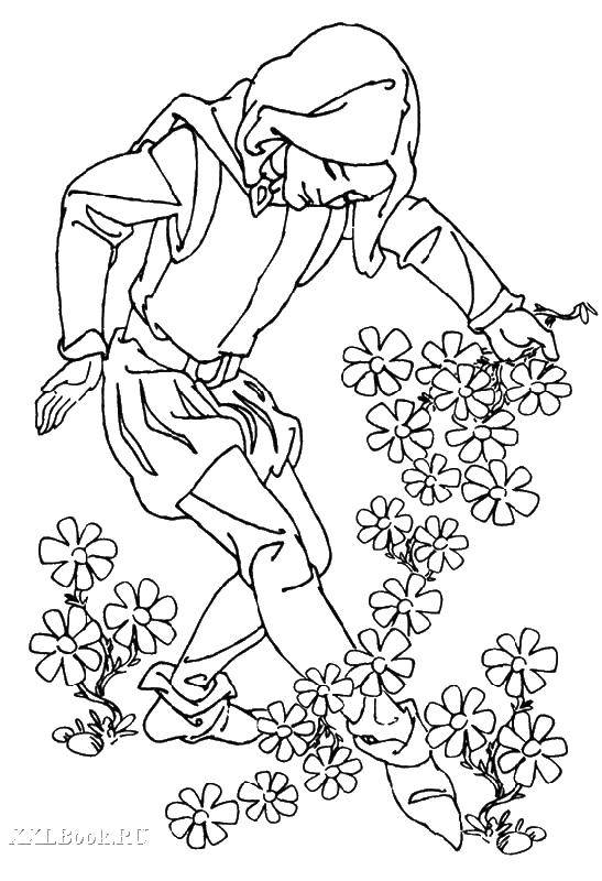 Coloring sheet a character from tales Download .  Print