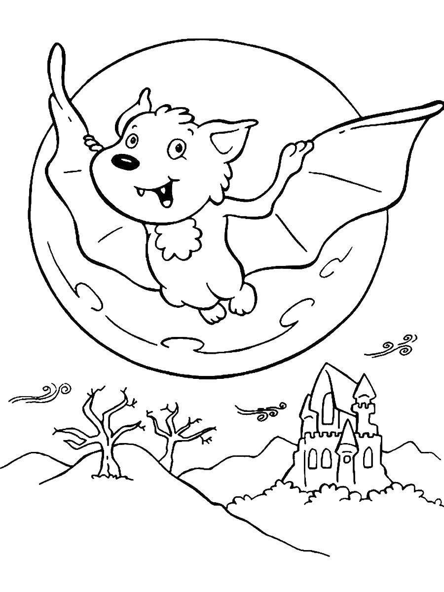 Coloring sheet Halloween Download machine .  Print ,The contours of the machine,