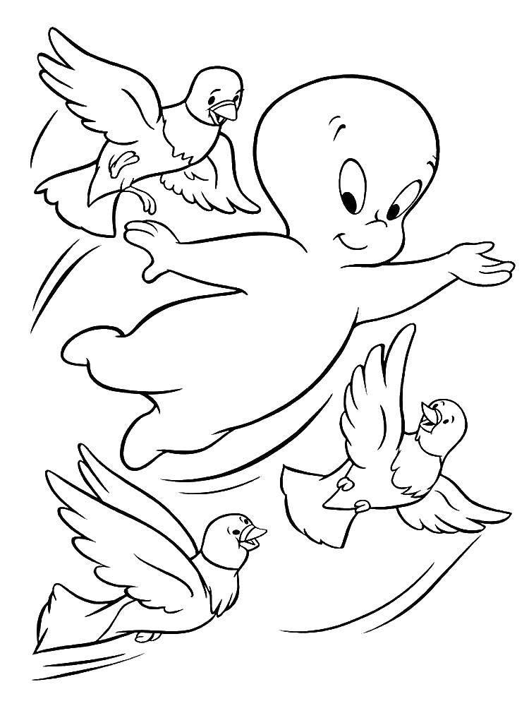 Coloring pages Halloween Скачать .  Распечатать