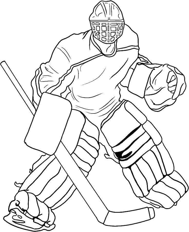 распечатать раскраски хоккей нхл советская сторона собиралась