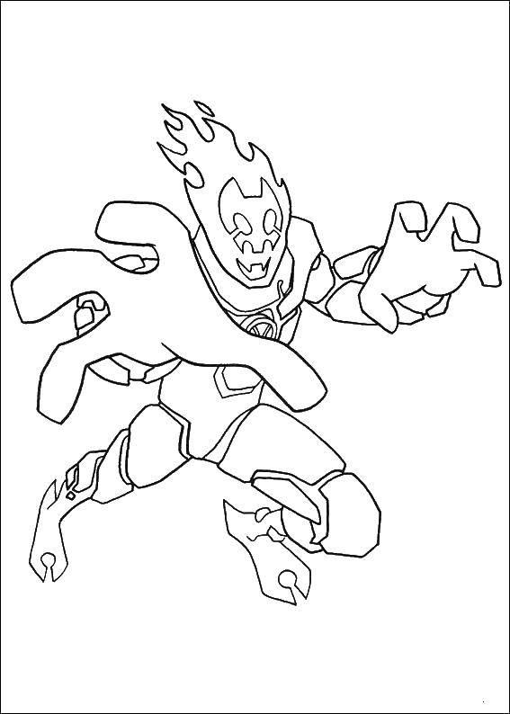 Coloring Ben 10 alien heroes Download Ben cartoon.  Print ,cartoons,