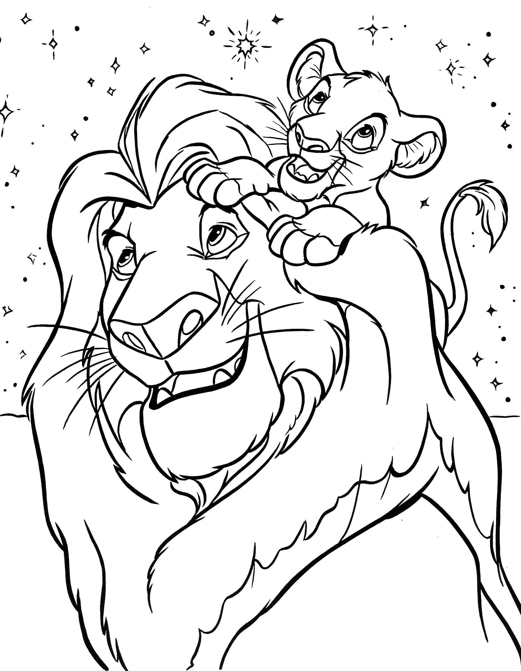 Раскраска Король лев Скачать ,Дисней, Король Лев,.  Распечатать
