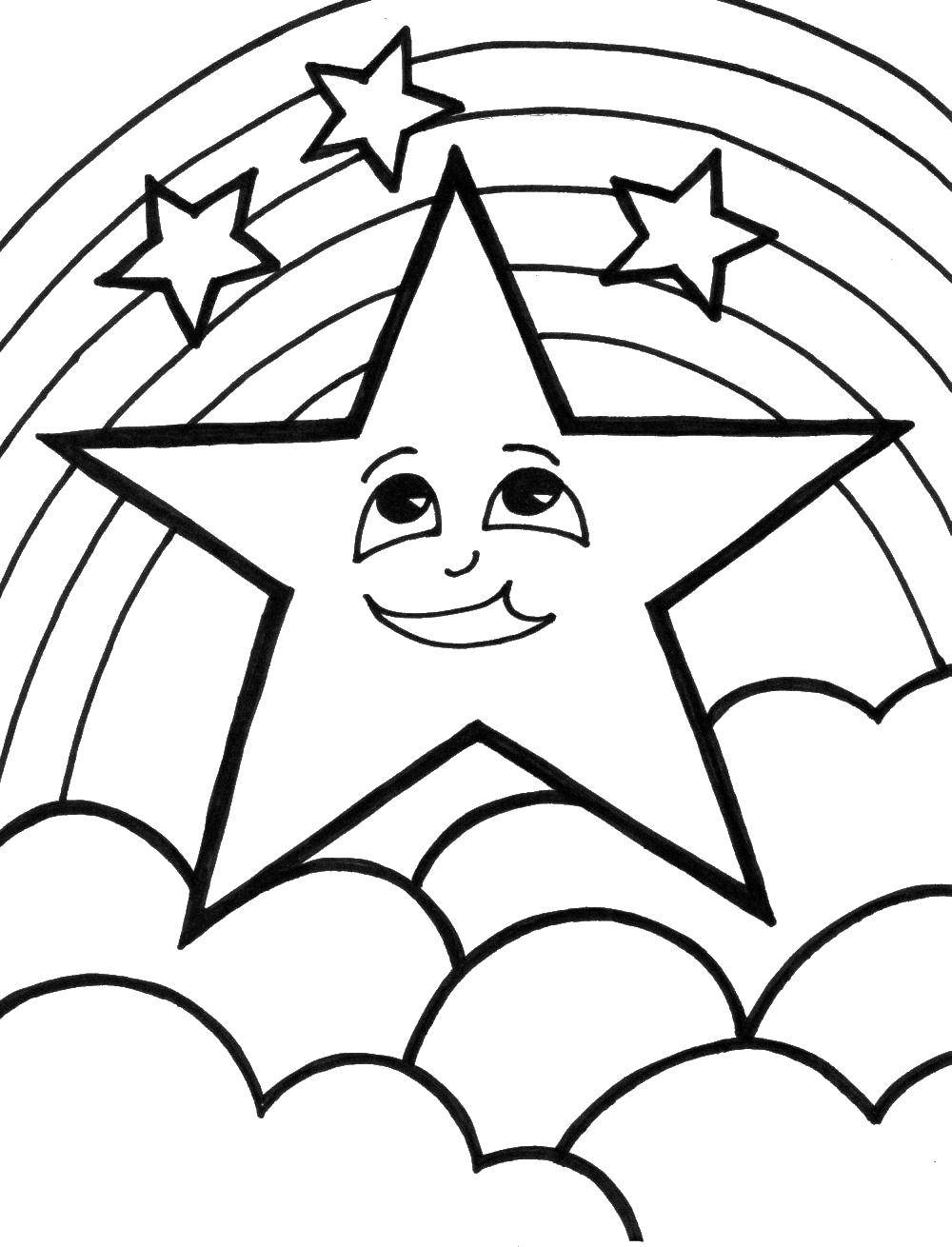 Coloring sheet stars Download technique, robot.  Print ,Technique,
