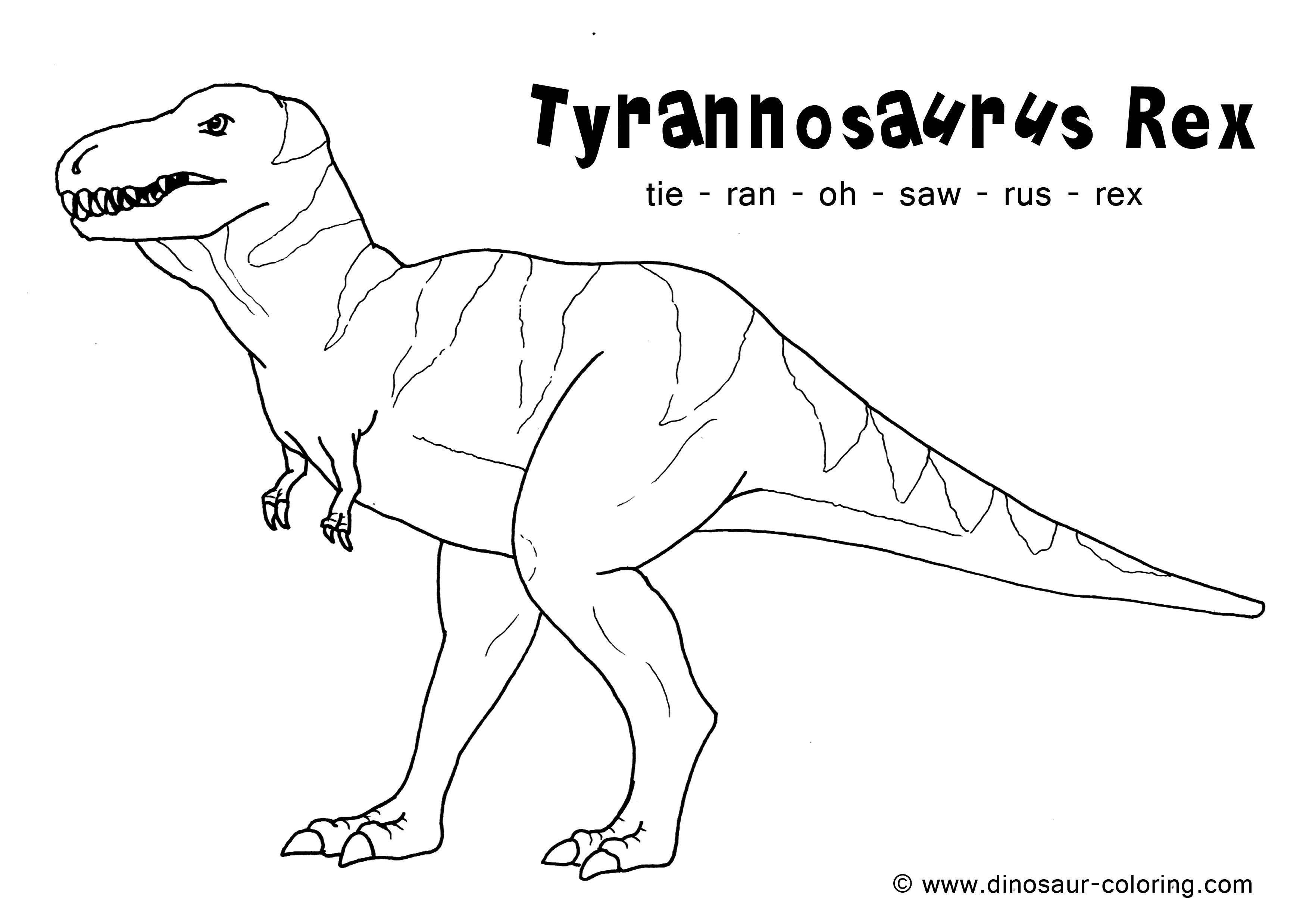 Coloring Tyrannosaurus Rex. Category dinosaur. Tags:  Dinosaurs.