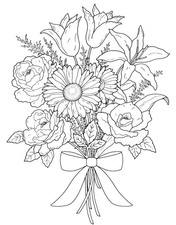 Coloring sheet flowers Download ,cartoons, children,.  Print