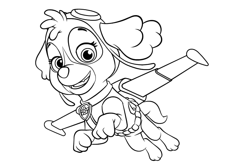 Раскраска Персонаж из мультфильма Скачать ,скай,.  Распечатать