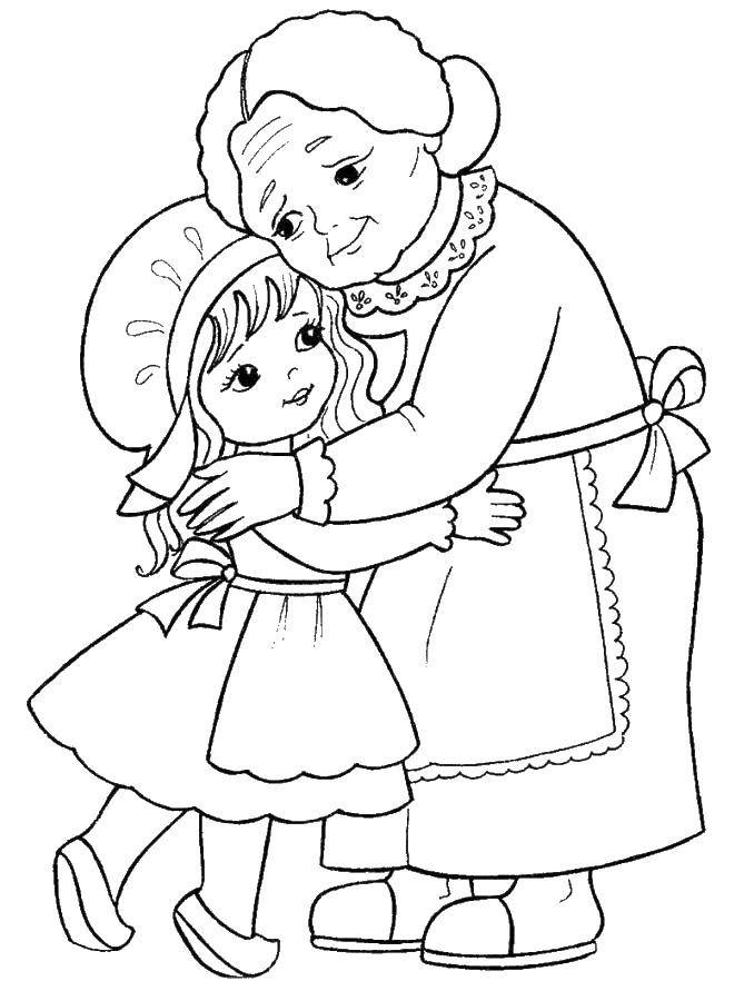 Coloring pages Family Скачать .  Распечатать