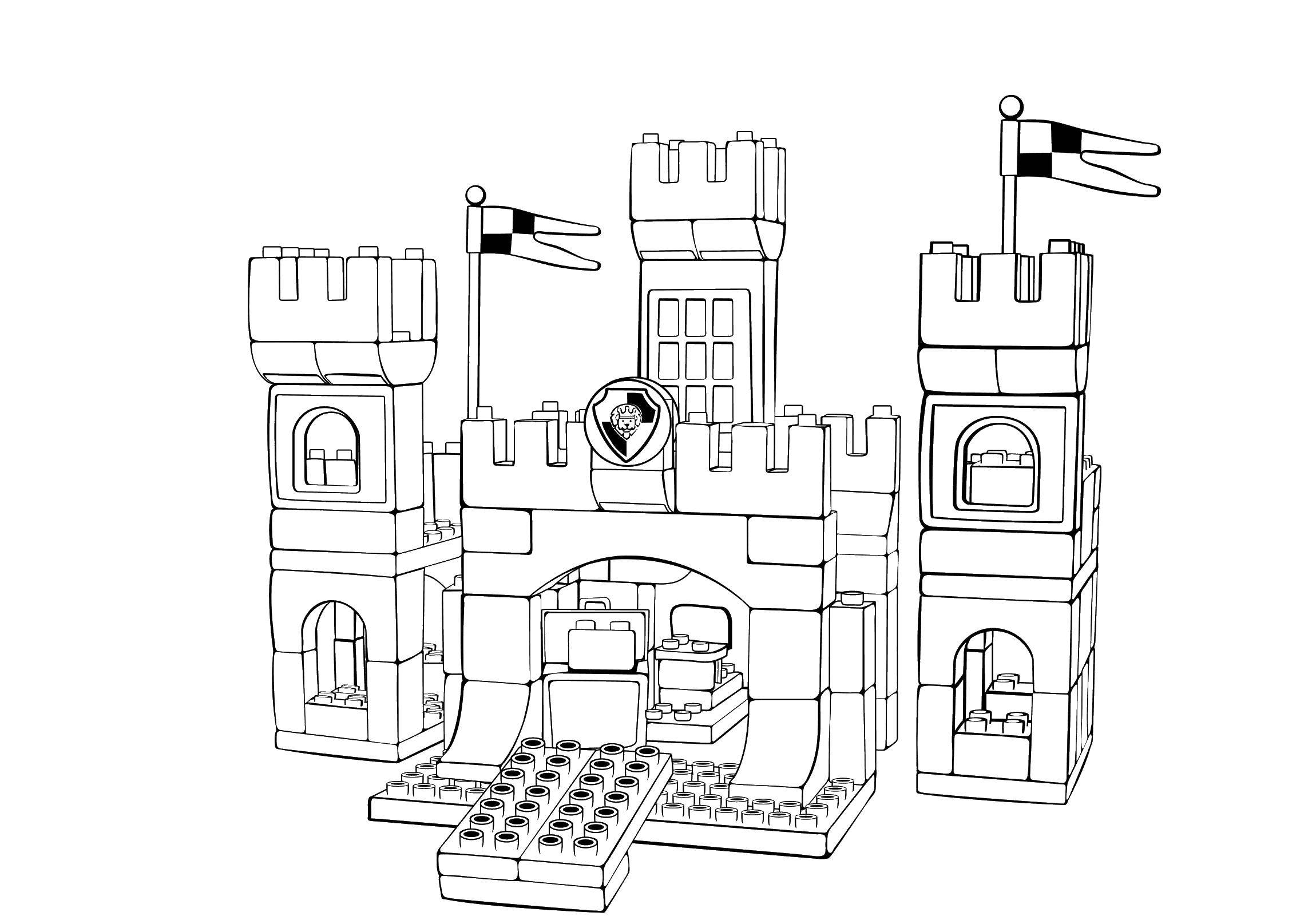 Online Coloring Pages Coloring Page Lego Castle Lego Download Print Coloring Page