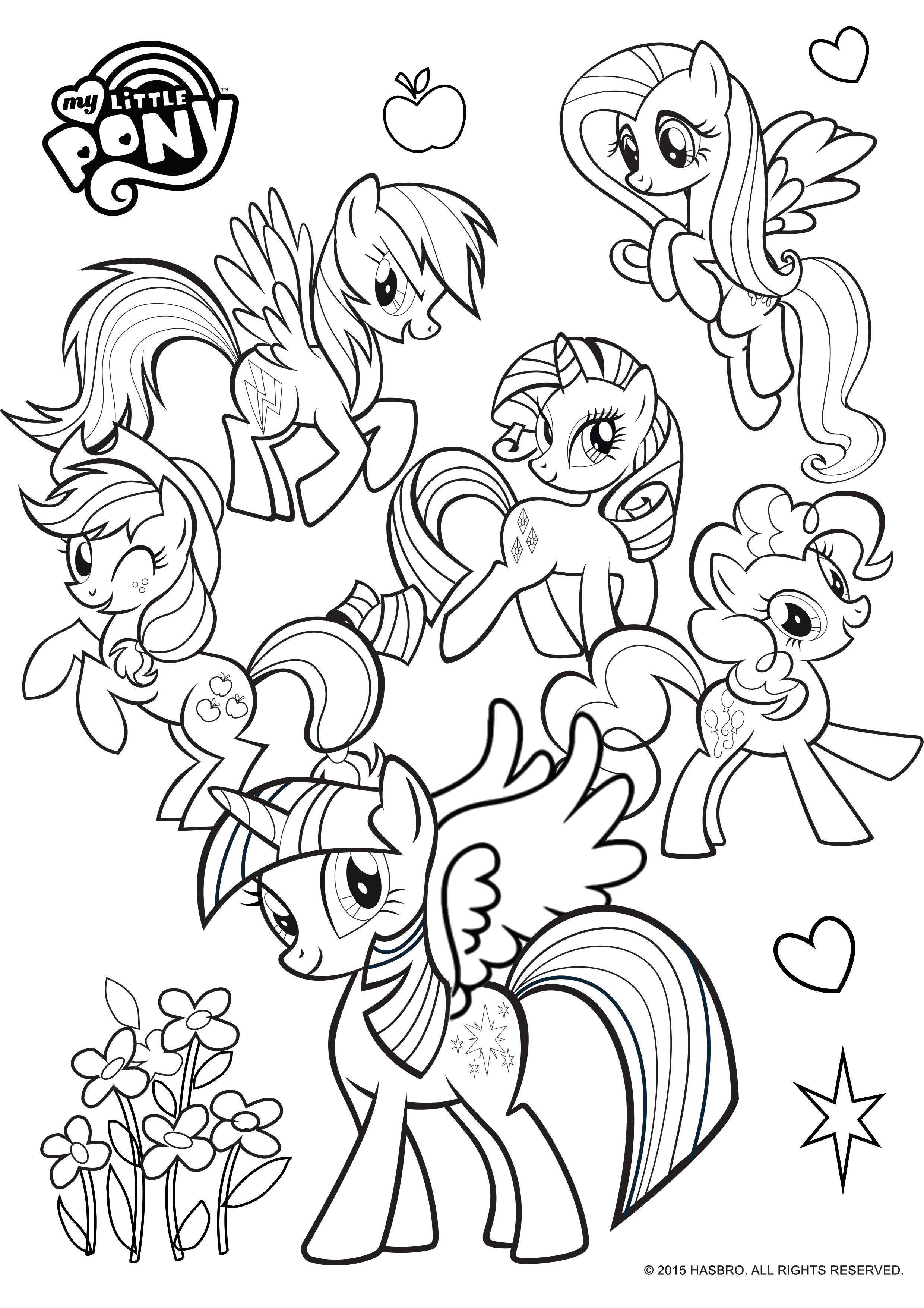 подборка картинки для раскраски мой маленький пони настолько страшные