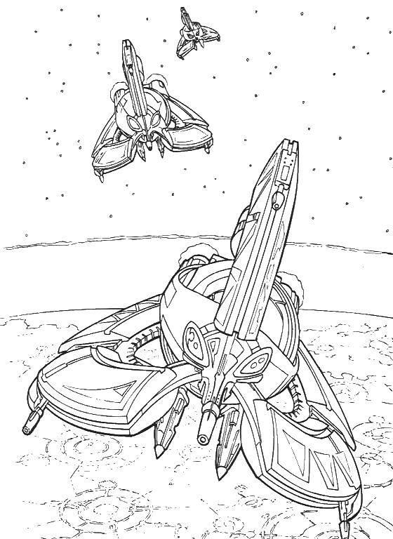 Раскраска звездные войны корабли Скачать .  Распечатать