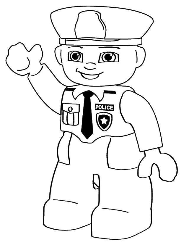 Картинки полицейских для раскрашивания
