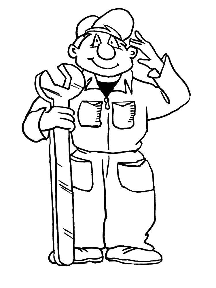 Labor Day Coloring Pages Plumber | Coloring pages, Coloring pages for kids,  Color | 1000x750