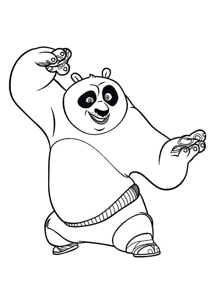 также требует кунг фу панда раскраска кистью волне