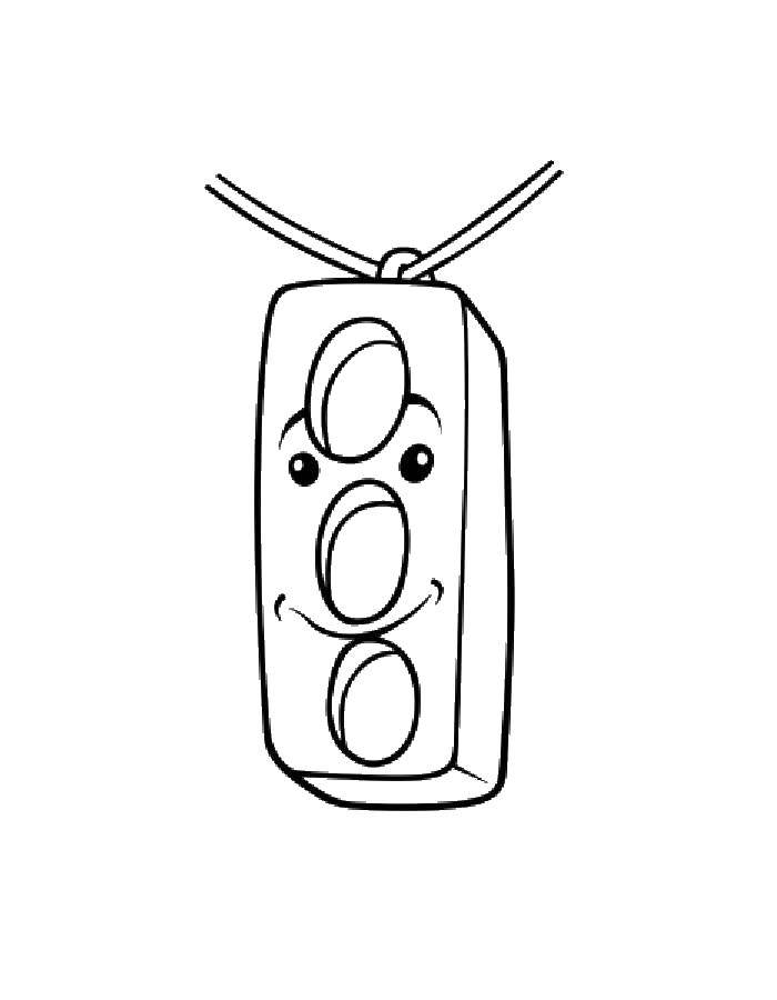 Coloring sheet traffic light Download Zimnicea.  Print ,winter,