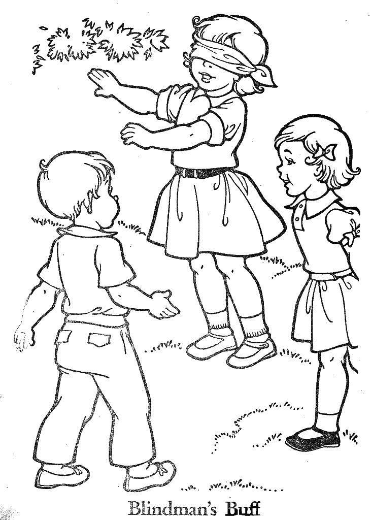 Жмурки картинка для детей