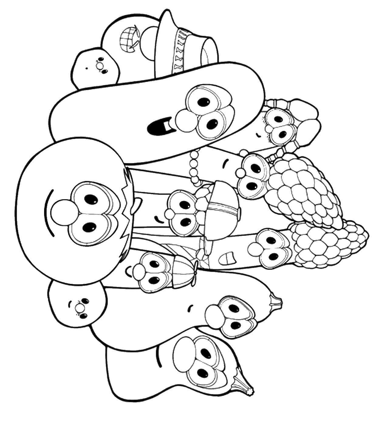 Coloring sheet vegetables Download draw.  Print ,mom ,