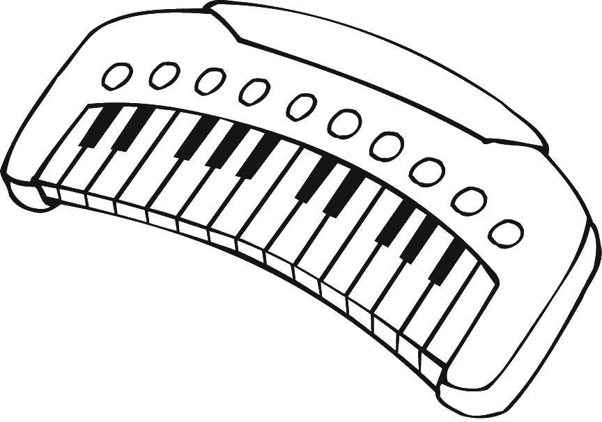 Coloring pages musical instruments Скачать .  Распечатать
