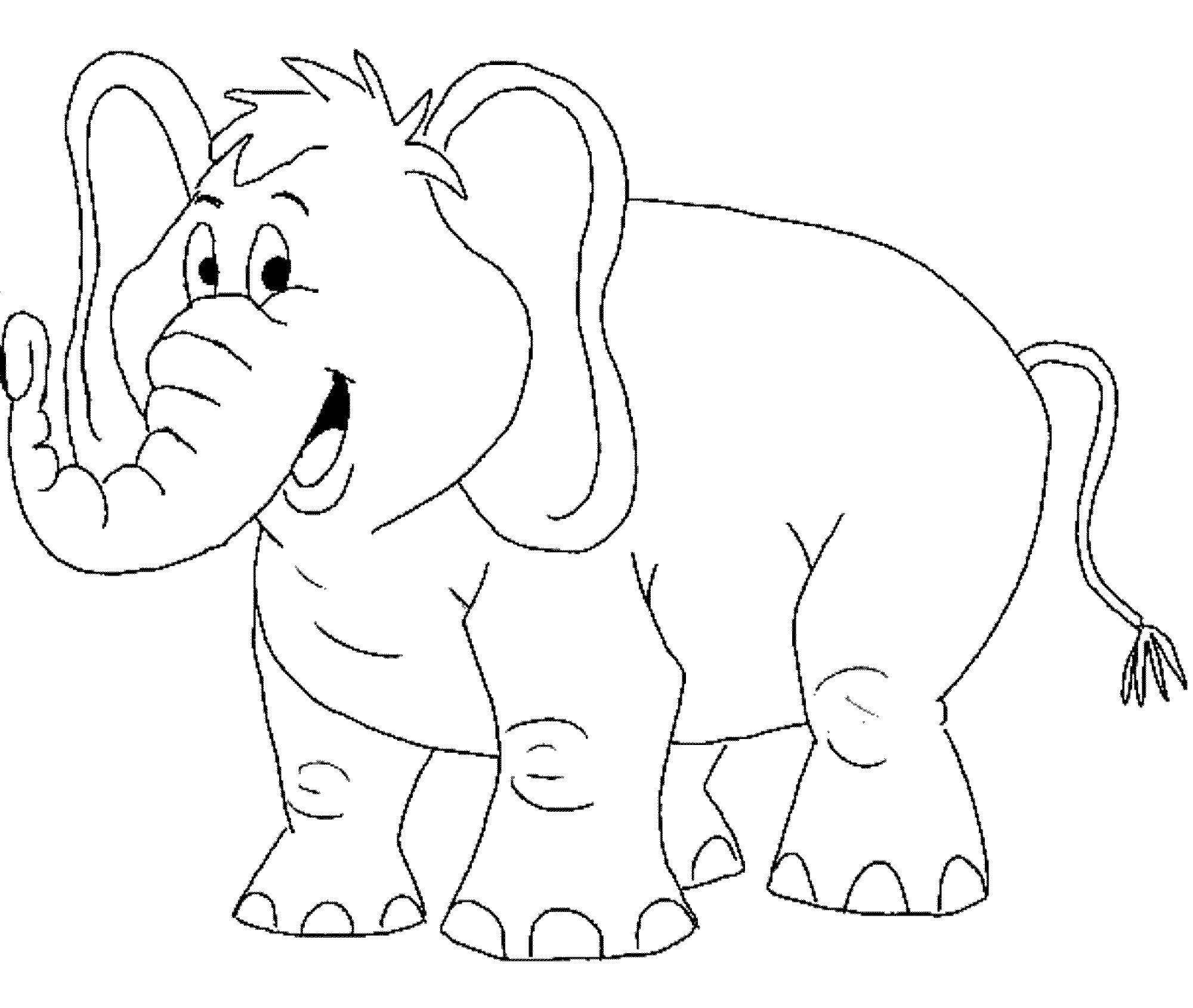 Раскраска слоники распечатать картинки только