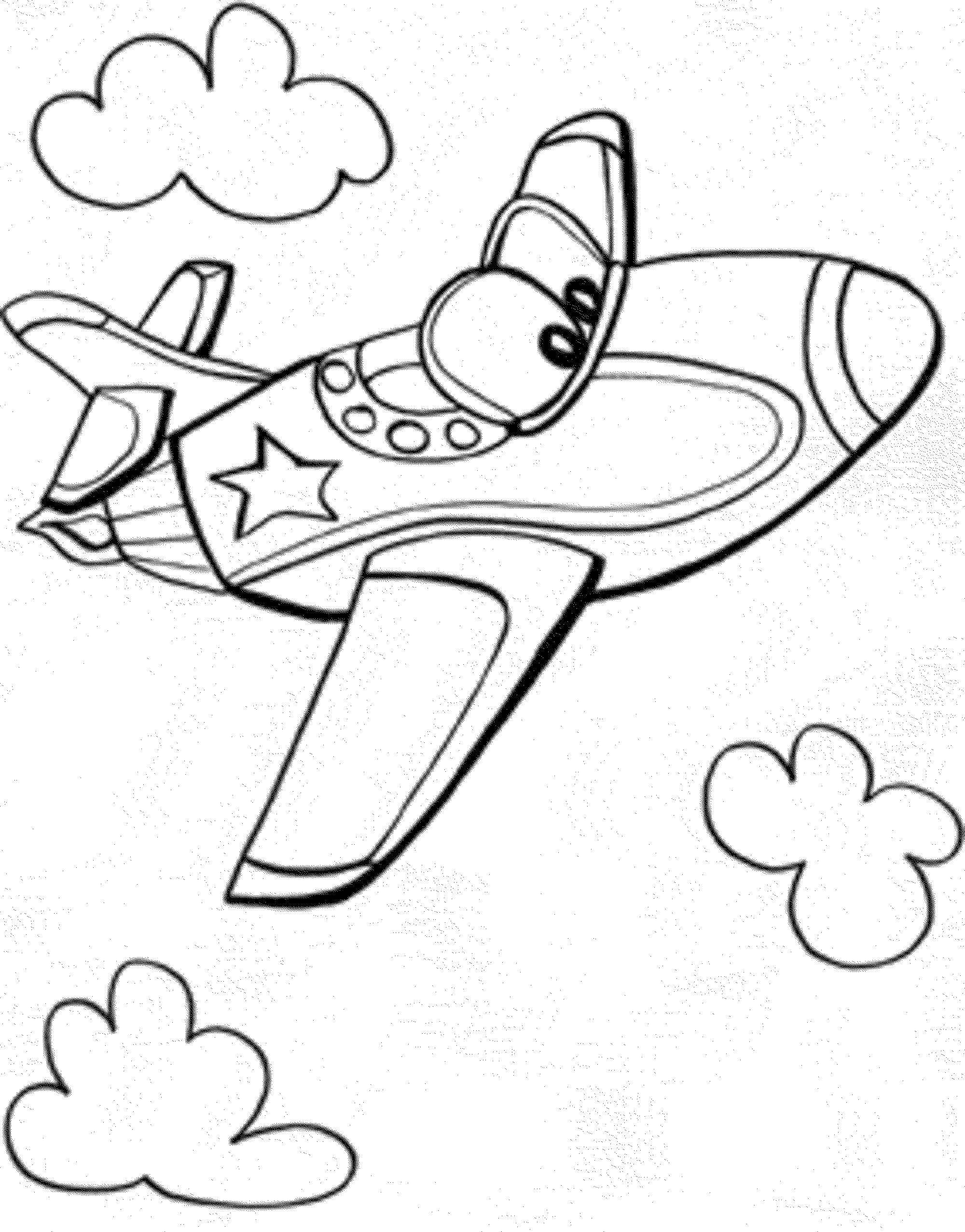 Раскраски самолет, Раскраска Самолет Самолеты.