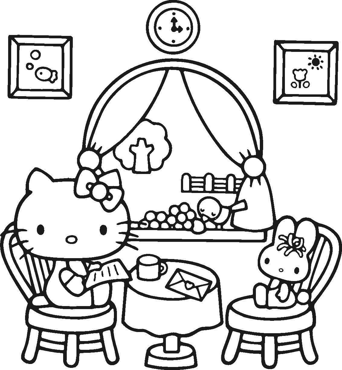 Coloring sheet Kitty Download games, cat, cat, Angela.  Print ,coloring,