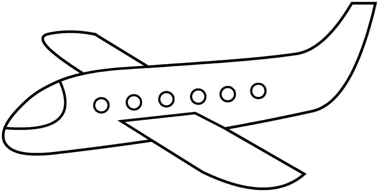 Раскраска Самолётик Скачать ,Самолёт,.  Распечатать