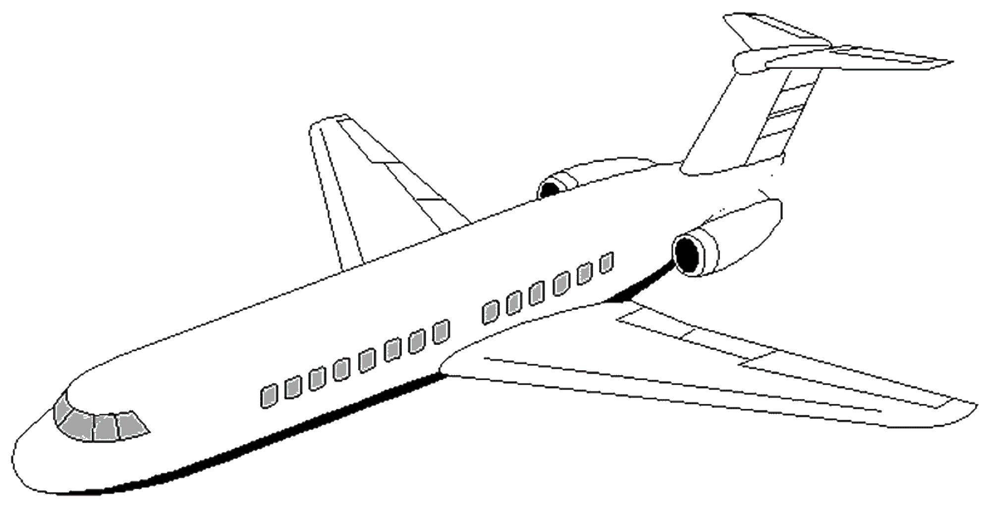сочетании другими самолет картинка раскраска дибцева фигура