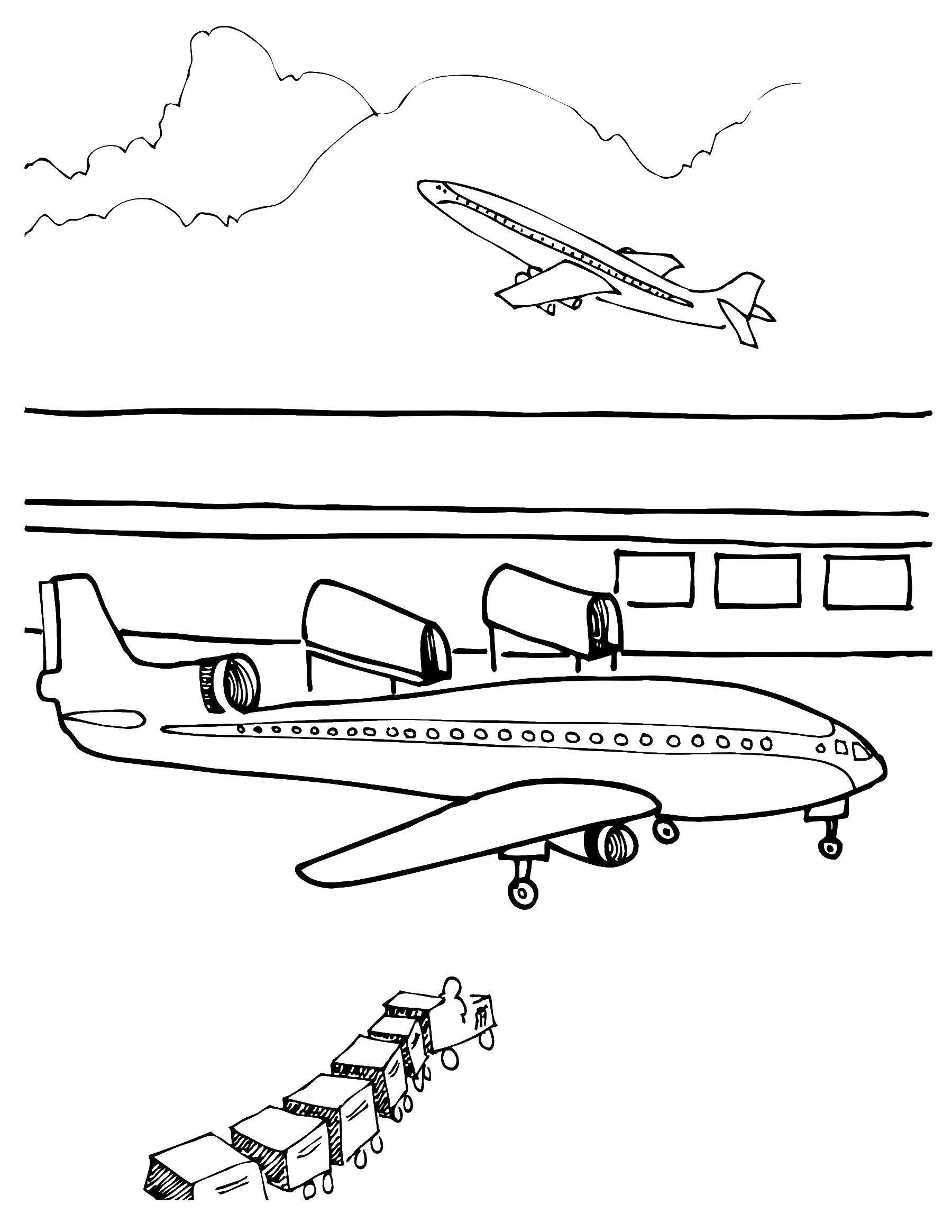 Раскраски истребитель, Раскраска Самолёт истребитель Самолеты.