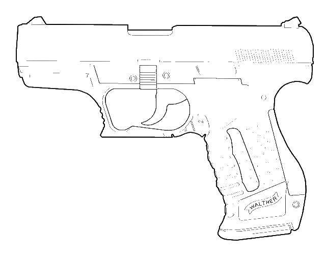 Раскраски Раскраска Опасный пистолет , скачать распечатать ...