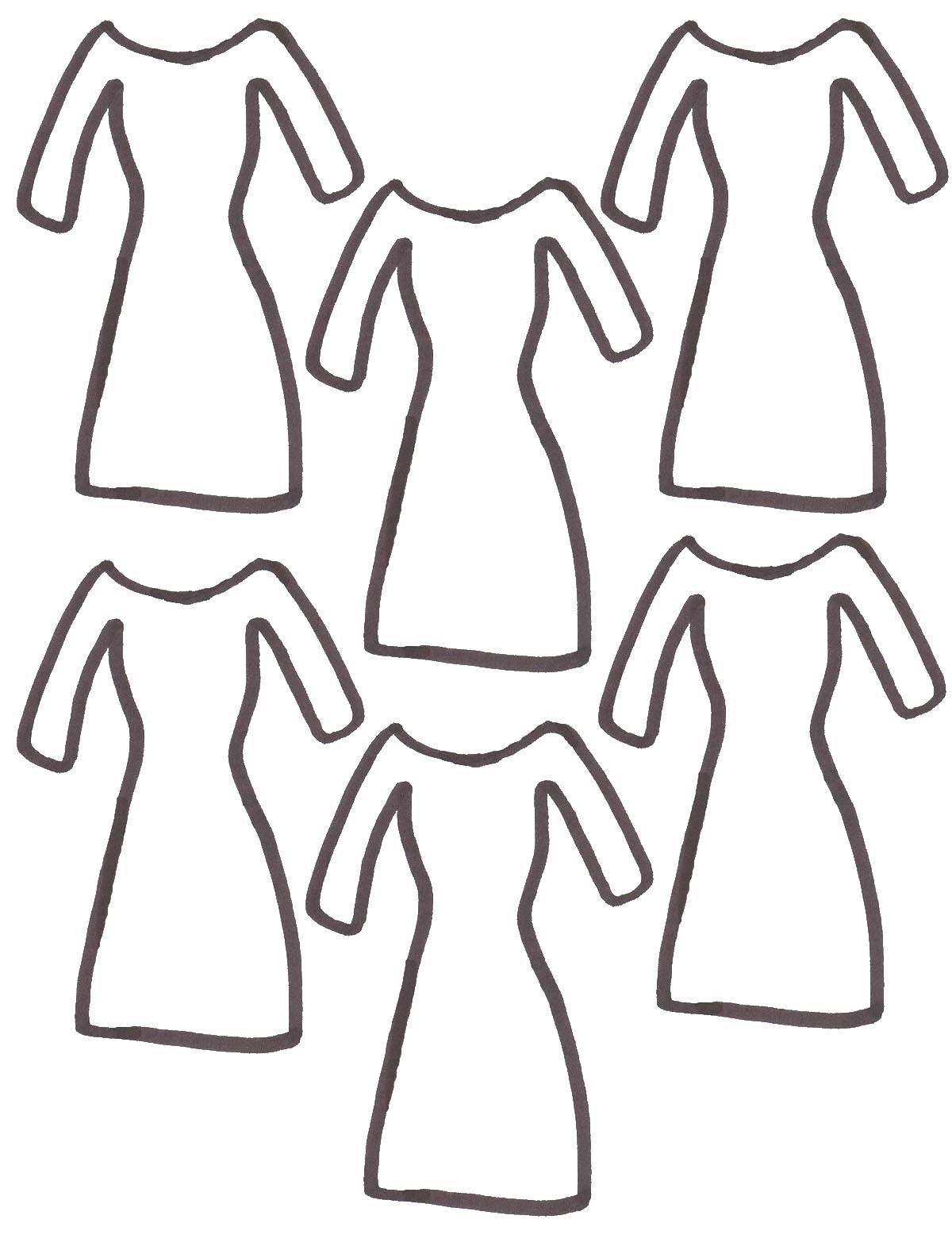Картинка платья для аппликации