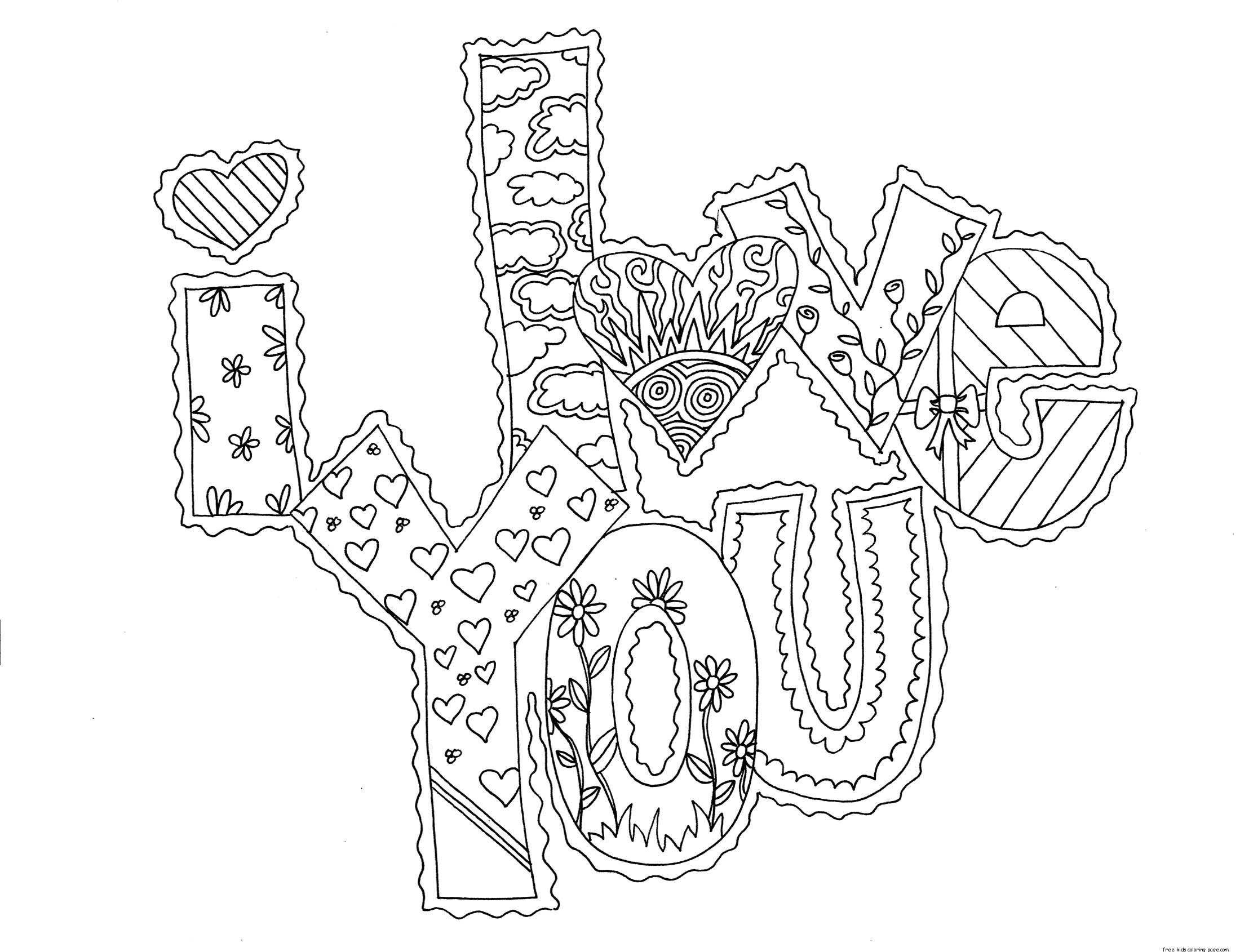 Coloring I love you!. Category I love you. Tags:  Recognition, love.