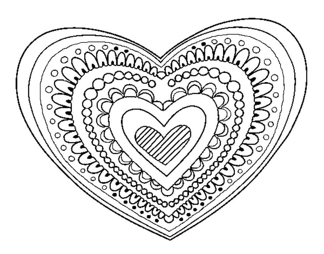 снимке рисовать картинки сердечки с узорами глубоким