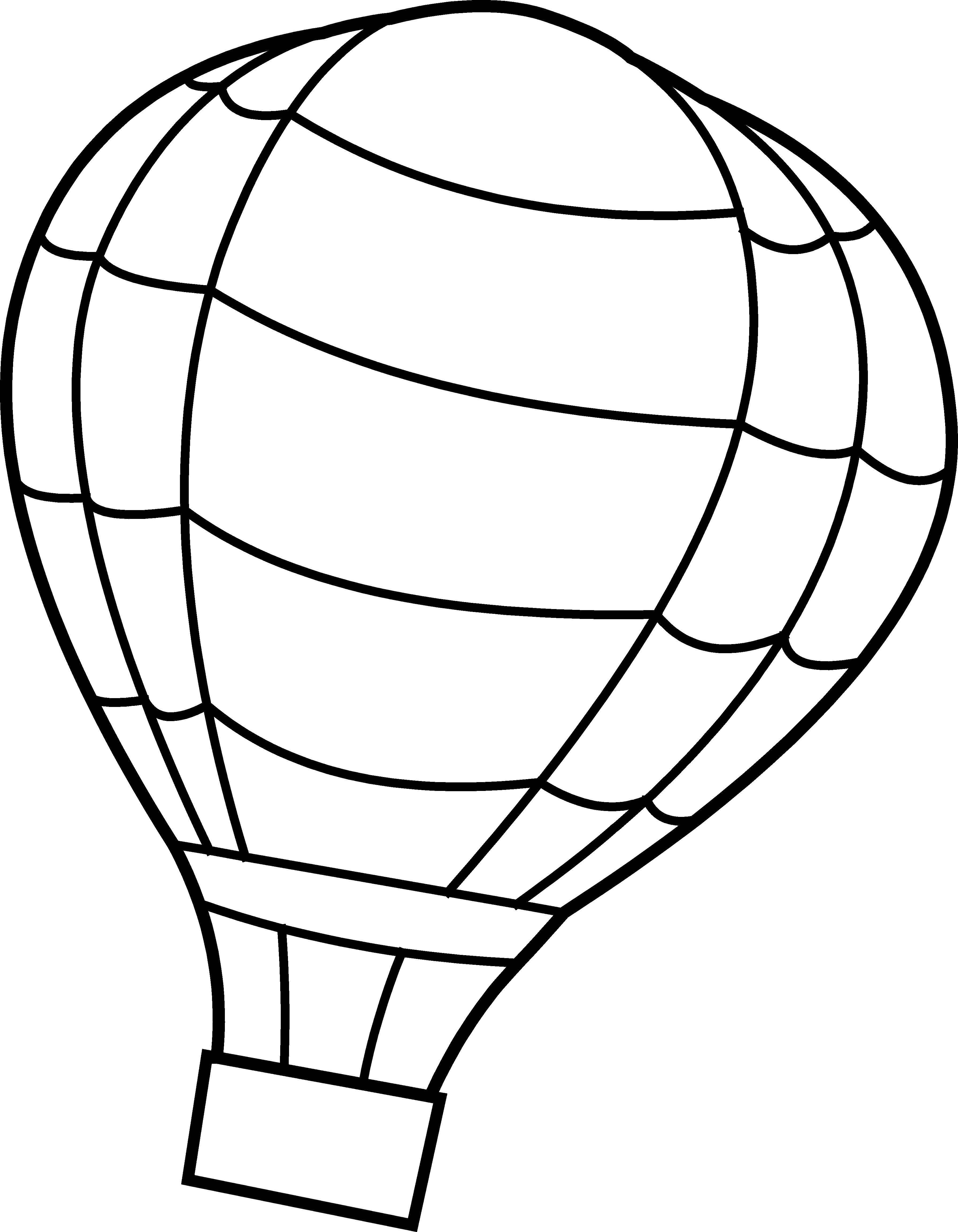 получение картинки раскраски воздушный шар с корзиной они
