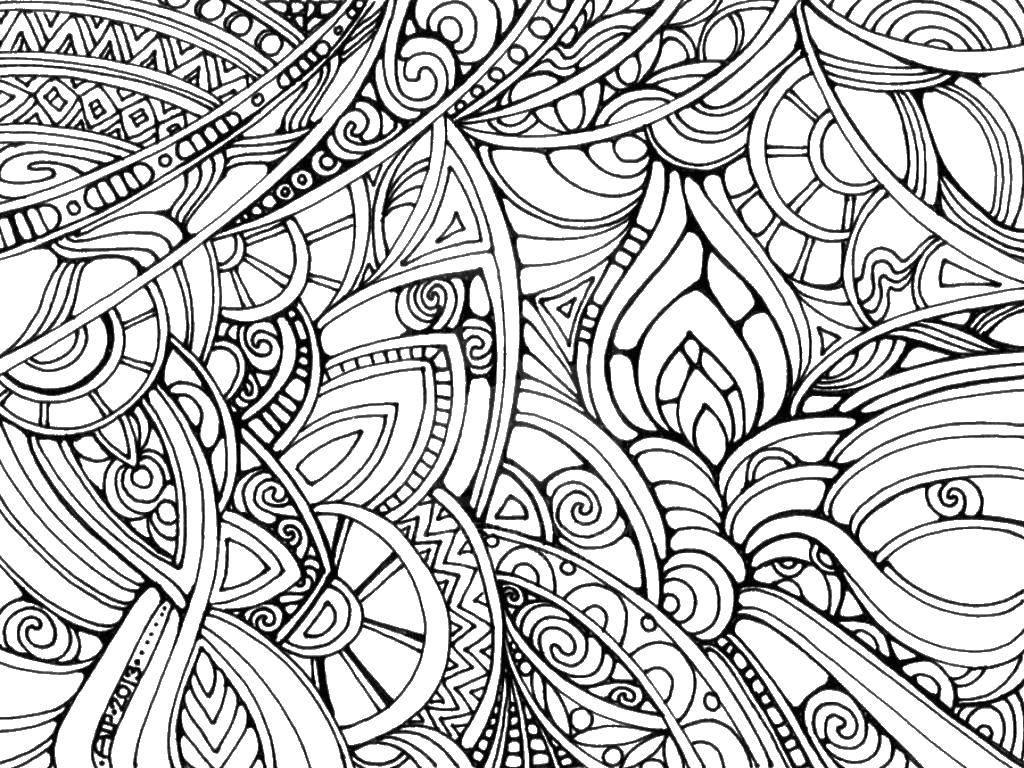 Раскраска антистресс абстракция тебе