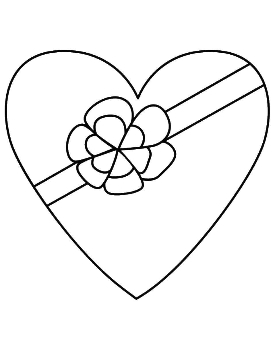 Сердечки картинки для раскрашивания