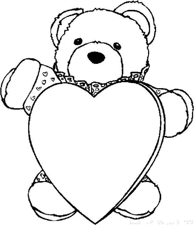 рисунки мишки с сердечками начала посчитайте