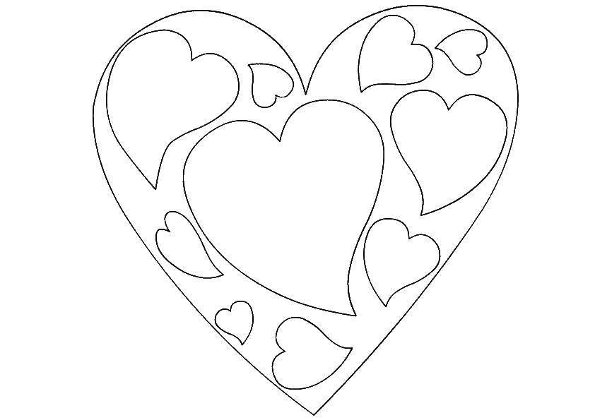 раскраска большое сердце распечатать это будут